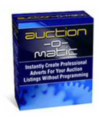 Product picture Auction-O-Matic - auction template software